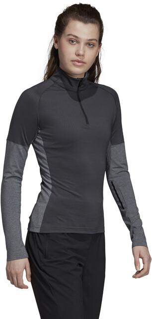 adidas TERREX Xperior Langarm T Shirt Damen carbondark grey heather
